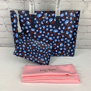 Kate Spade Large Floral Tote With Dust Bag